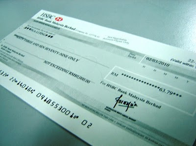 Nuffnang Cheque Finally Reached! 1