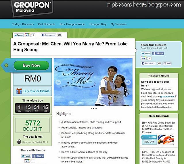 A Grouposal: Mei Chen, Will You Marry Me? From Loke Hing Seong 1
