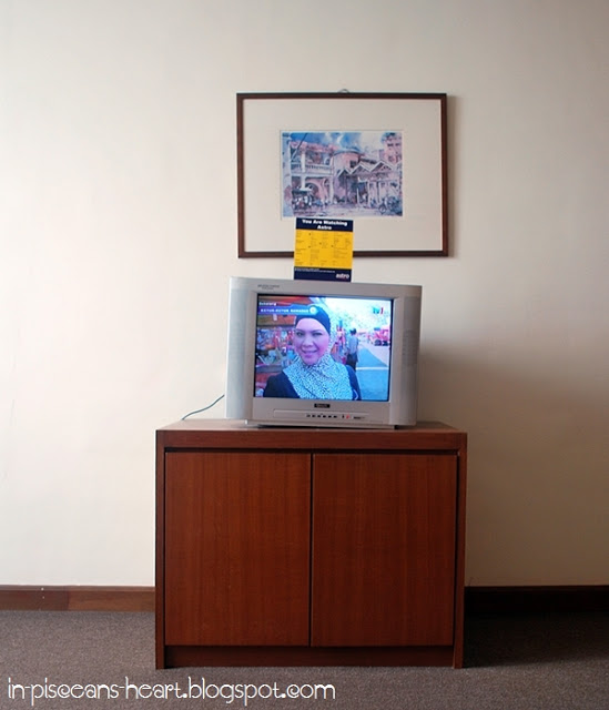 Living Room - The slanted TV and photo frame