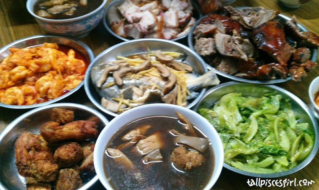 Dishes for Chinese New Year Reunion Dinner. I realized this year we didn't have chicken :(