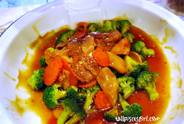 Braised Brocolli with Top Shell Abalone