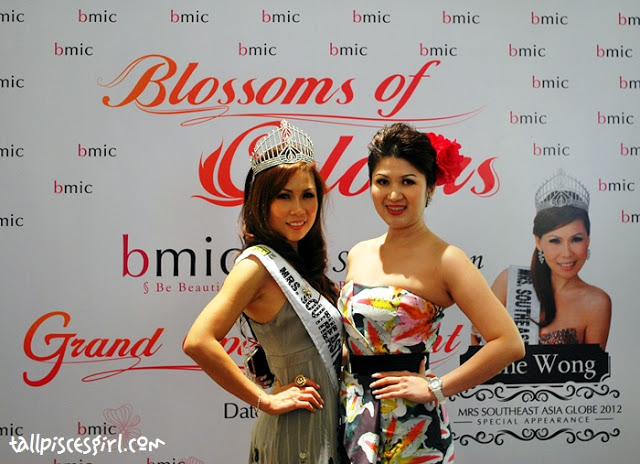 Ms. Irene Wong (Mrs. Southeast Asia Globe 2012) and Ms. Michelle Hee, the founder of BMIC
