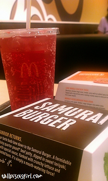 Samurai Beef Burger Set with Sakura McFizz