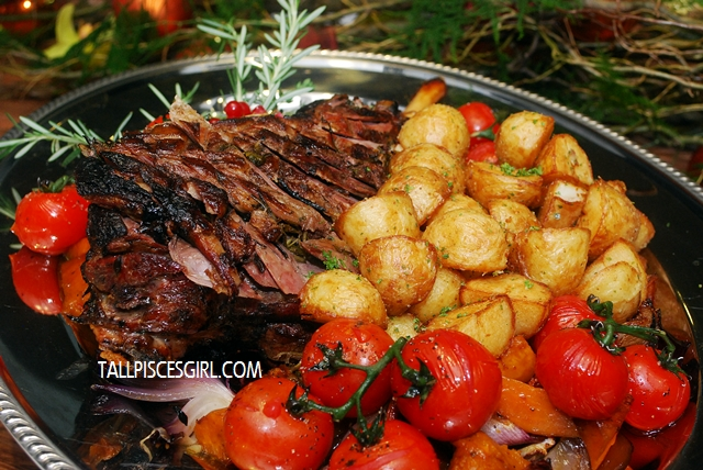 Honey Mustard Australian Leg of Lamb