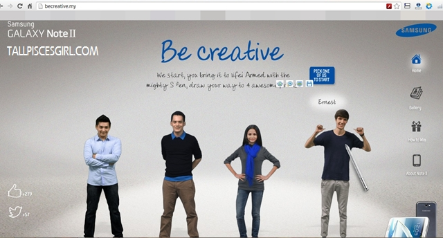 Samsung Galaxy Note II: Be Creative and Win! 2