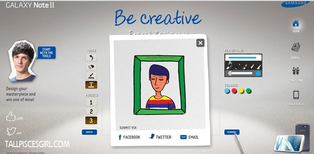 Samsung Galaxy Note II: Be Creative and Win! 3