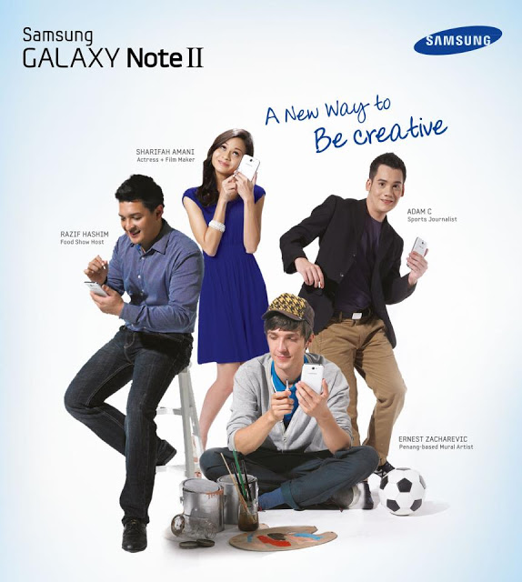 Samsung Galaxy Note II Be Creative and Win Poster