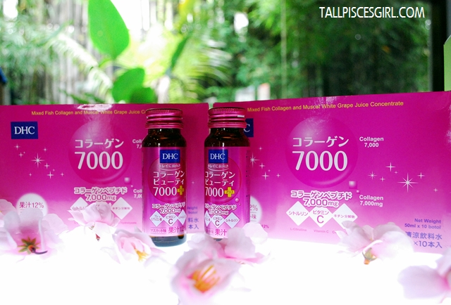 DHC Collagen Beauty 7000 with pretty plum blossoms!