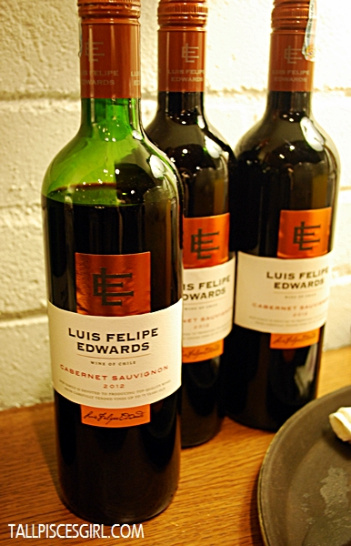 Red Wine served: Luis Felipe Edwards Cabernet Sauvignon