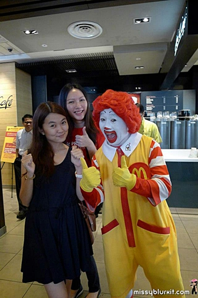 Hui Ping and I are excited to pose with Ronald too!