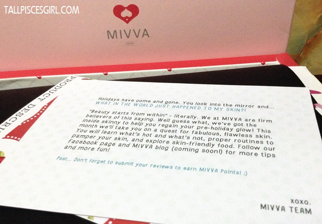 MIVVA Beauty Box March 2013 Know Your Skin Edition