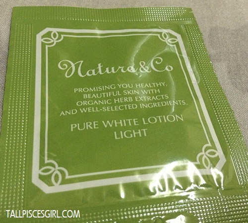 Nature & Co Pure White Lotion Light Sample