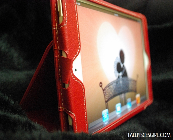 The Snugg iPad Mini Case Cover in standing position