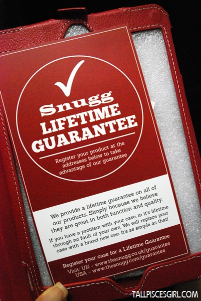 "Snugg ""Lifetime Guarantee"""