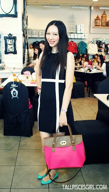 #OOTD: Dress from Nichii | Bag from HK Station Sungei Wang | Flats from Vincci