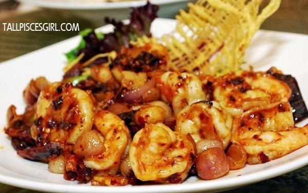 Wok Fried Prawn with Fiery Hot Sze Chuan Sauce