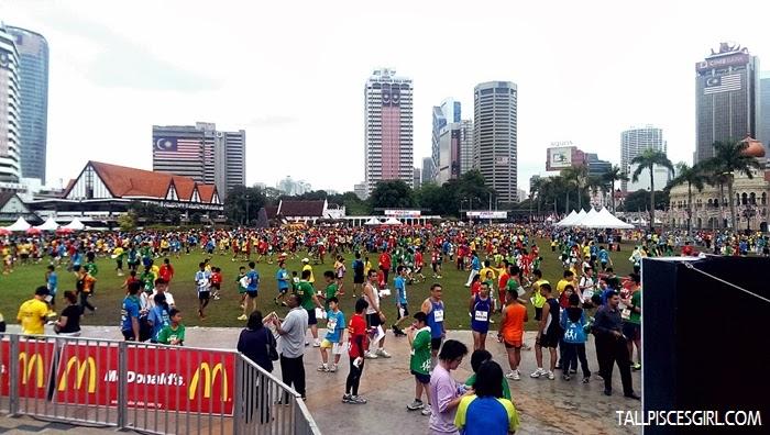 It's a sea of colors at Dataran Merdeka