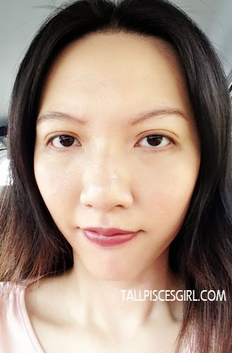 After application of bloop Light Mocha matte lipstick