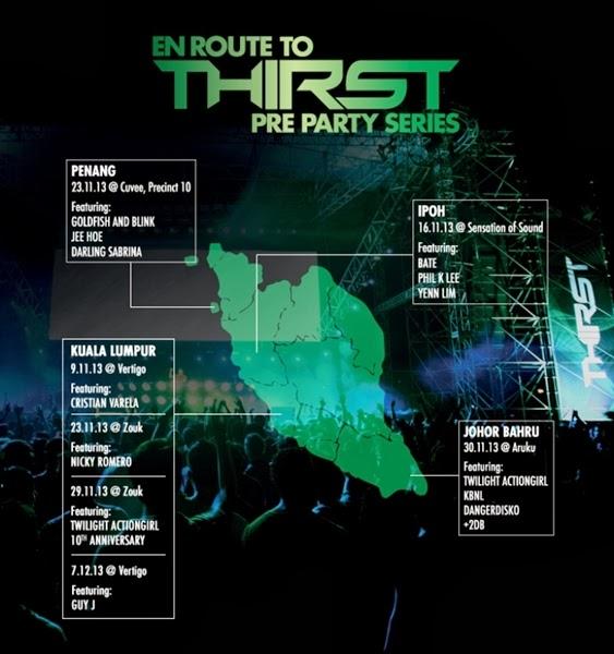 Heineken Thirst Pre-party Schedule