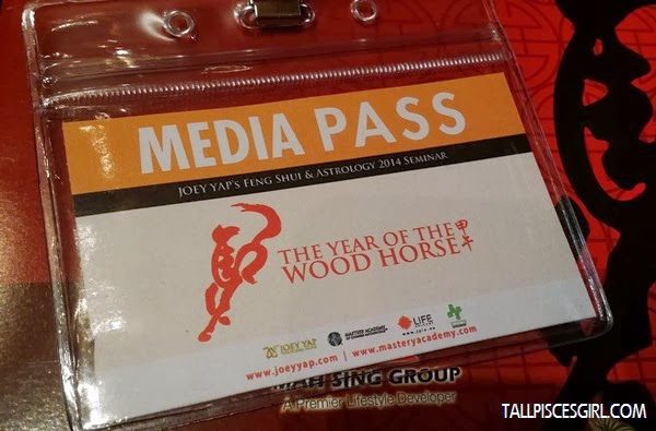 Media Pass for Joey Yap's Feng Shui & Astrology 2014 Seminar