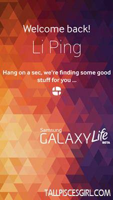 Samsung Galaxy Life app