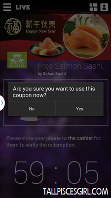 Cashier will press 'Yes'