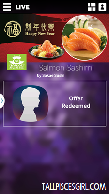 The price for 1 plate of Salmon Sashimi will be deducted