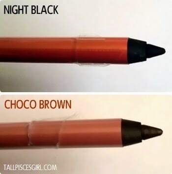 Miss Hana Water Proof Gel Eyeliner Night Black vs Choco Brown