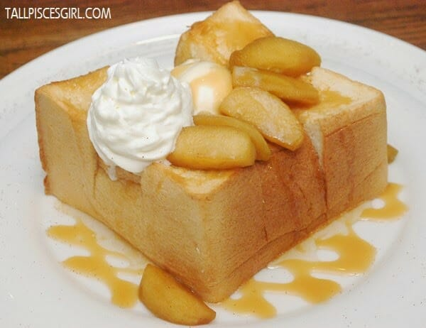 Caramel Apple Honey Toast with Ice Cream