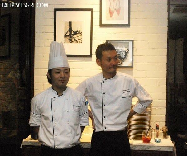 Chef Kazutoshi Nakasone (Chef de Cuisine) and Chef Tatsuya Ikeuchi (Executive Chef)