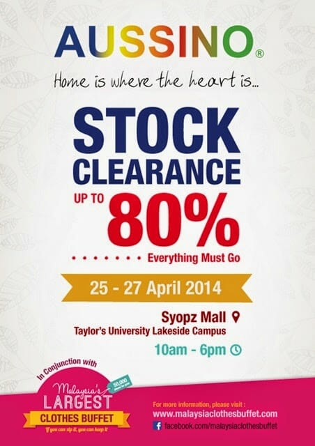 Aussino Stock Clearance Sale @ Syopz Mall