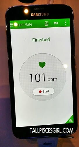 Samsung Galaxy S5 - Heart rate monitor reading