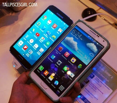 Comparison between Samsung Galaxy S5 and Samsung Note 3