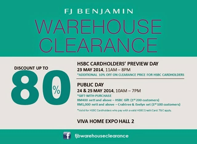 FJ Benjamin Warehouse Clearance Sale