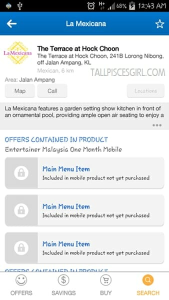 La Mexicana offers from The Entertainer app