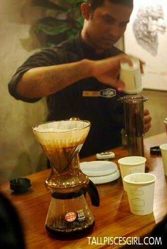 Coffee Demo by baristas