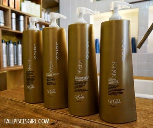 Products Used In Joico K Pak 4 Step System Treatment