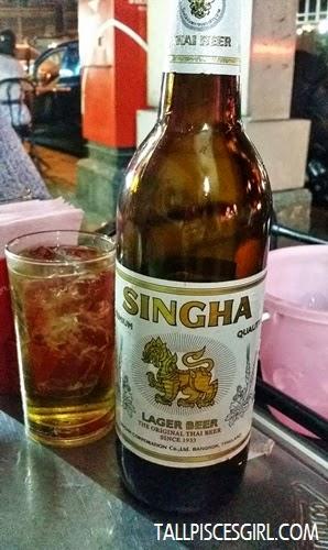 Singha beer (90 baht)