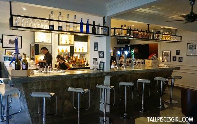 Soirée's classy bar