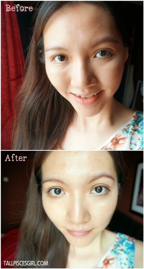 Before and after Maybelline Volum' Express The Falsies Big Eyes Mascara