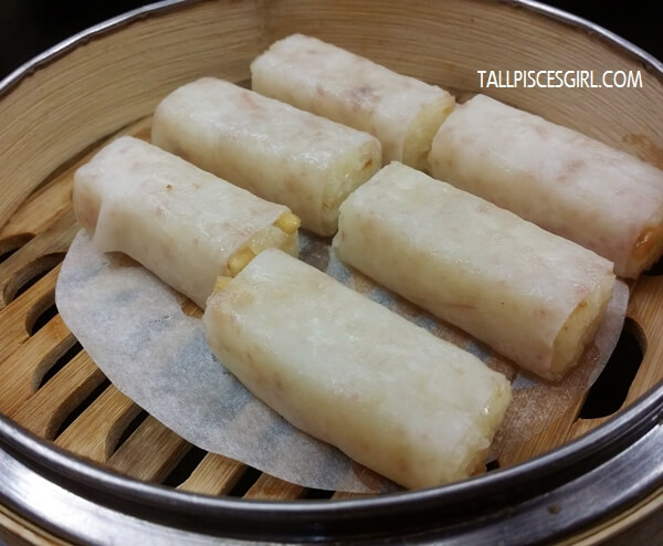 Steamed Glutinous Rice with Dried Shrimp wrapped with Yam