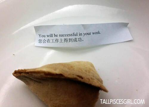A piece of fortune cookie to end the food tasting session. Good fortune eh? ;)