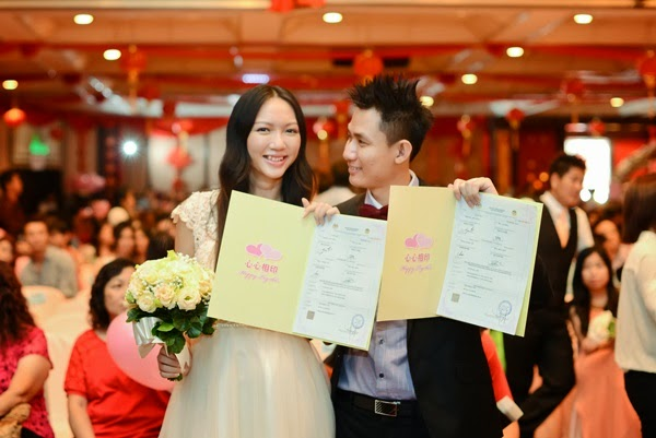 Certificate of Marriage in our hands. It's finally done!