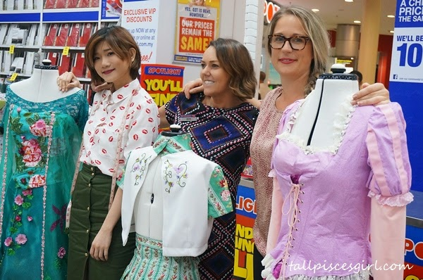 Uprising designer, Arisa Chow, Ms. Jacqui Craig, Spotlight's Regional Manager for Asia and Ms. Eva Daly, Communications Manager of Spotlight Retail Group