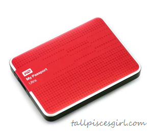 "WD My Passport Ultra 1TB Red 2.5"" Portable Hard Drive"