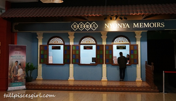 Nyonya Memoirs ticketing counter