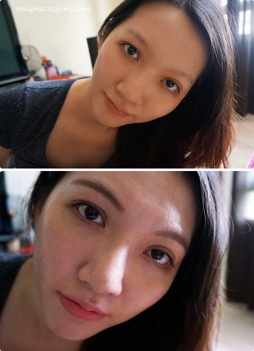 Before/After makeover with Canmake cosmetics