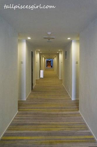 The long hallway that leads to our room